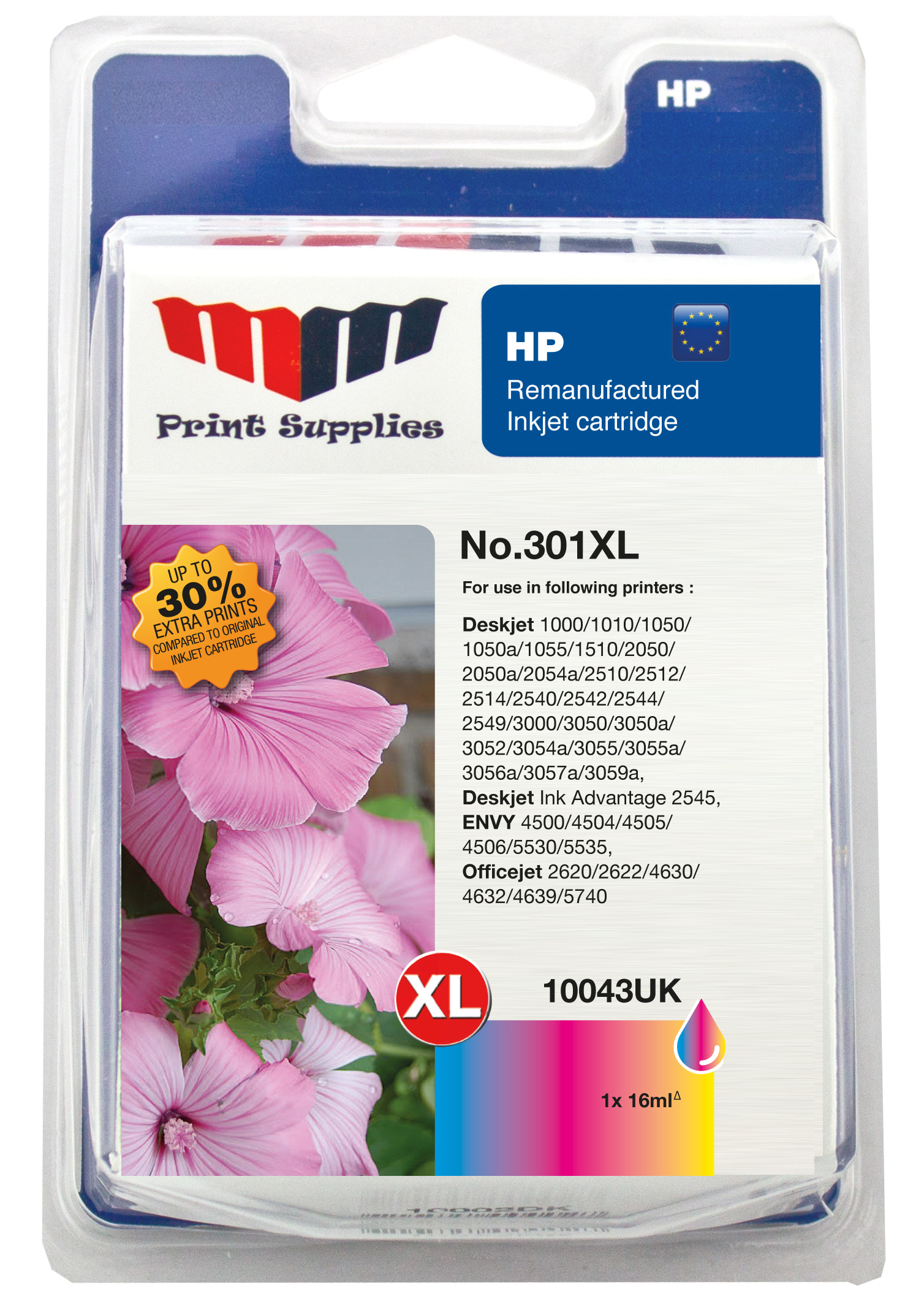Color Inkjet Cartridge No.301XL (CH564EE)