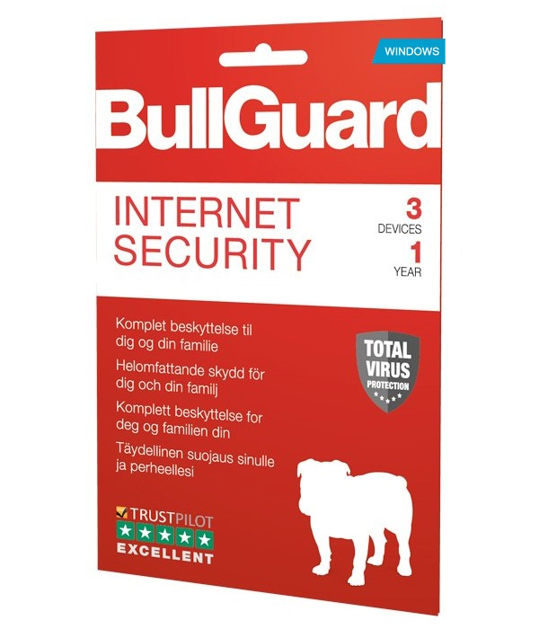 BullGuard Internet Security 2019 1YR/3PC WIN only